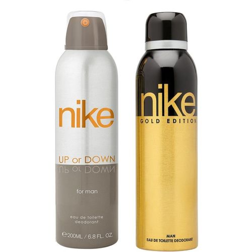 Nike Man Up or Down and Gold Deodorant Spray for Men 200ML Each (Pack of 2) Deodorant Spray - For Men(400 ml, Pack of 2)
