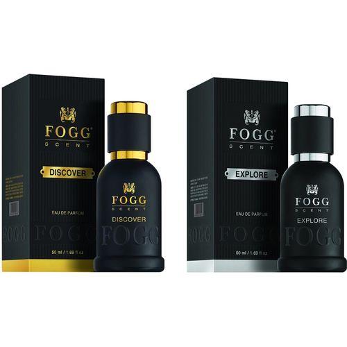Fogg Scent Discover and Explore EDP Perfume Pack of 2 (50ML each) 100ML Eau de Parfum - 100 ml(For Men)
