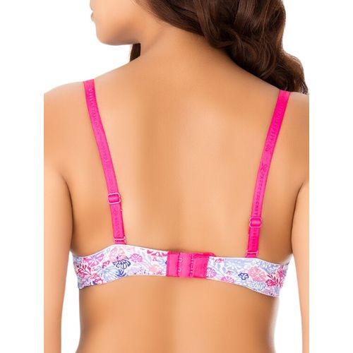 PrettySecrets bow patch floral t-shirt bra