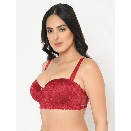 Curvy Love lace panel balconette bra