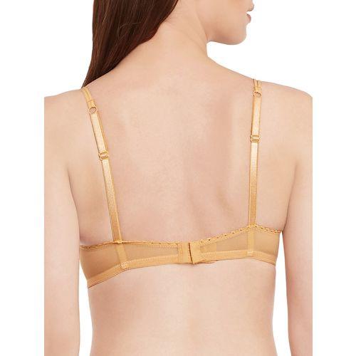 Secrett Curves bow patch laced balconette bra