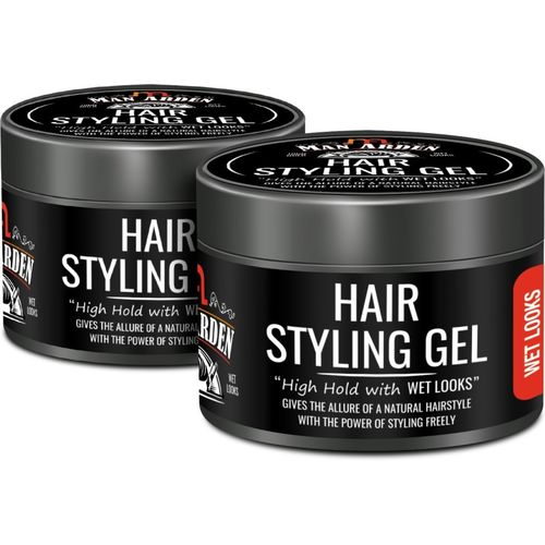 Man Arden Hair Styling Gel - High Hold with Wet Looks - Pack Of 2 Hair Gel(50 g)