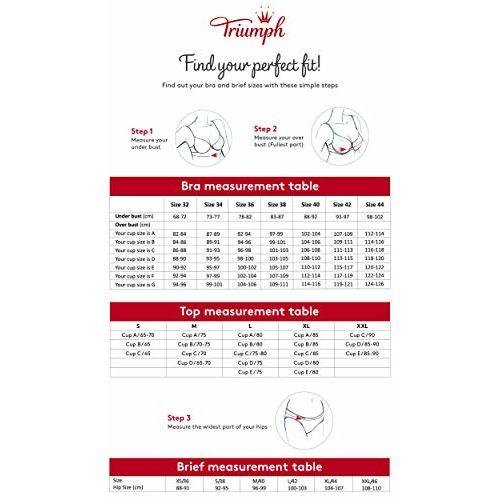 Triumph International Women's Non Padded Non Wired Sheer insert Minimizer Bra(Black_36D)