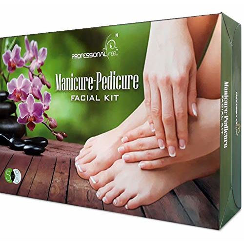 professional feel Manicure Pedicure Lotus facial kit For Men & Women Glowing Skin Care Treatment/Instant Glow Care For Beauty - Radiance Booster Facial Foam All