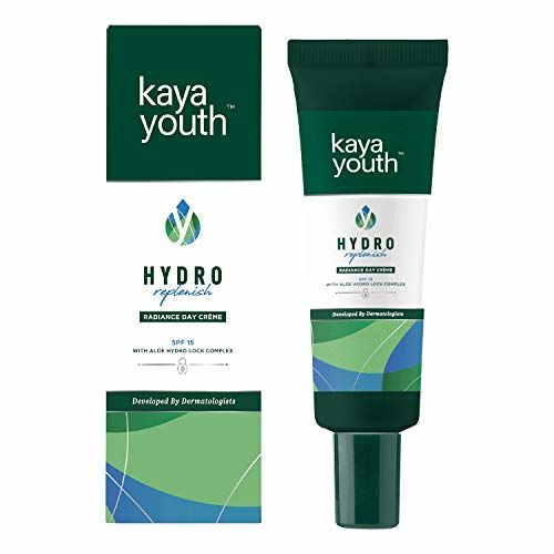 Kaya Youth Hydro Replenish Radiance Day Creme, enriched with pure Aloe Vera gel, SPF 15, Non-sticky and Lightweight, 24 hours Skin Hydration, Developed by