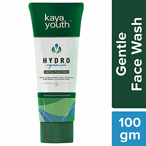 Kaya Youth Hydro Replenish Gentle Face Wash, With Aloe Vera and Energizing Beads, Dirt Removal, Suitable for Oily Skin, Fresh Glowing Skin,Developed by