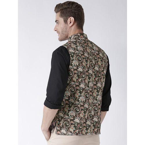 Hang Up brown cotton nehru jacket