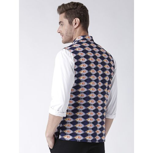 Hang Up blue cotton nehru jacket