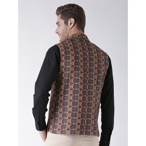 Hang Up multi colored cotton nehru jacket