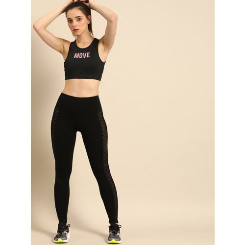 DressBerry Black Printed Non-Wired Lightly Padded Sports Bra 27904-A