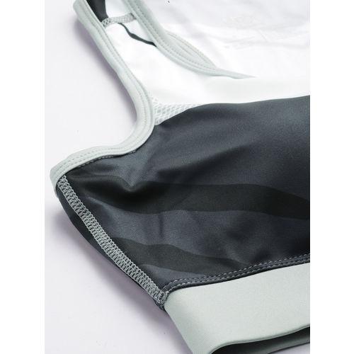 HRX by Hrithik Roshan Navy Blue & White Colourblocked Rapid Dry Sports Bra HRX-AW19