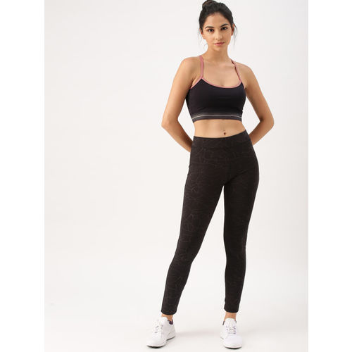 DressBerry Black Solid Non-Wired Lightly Padded Sports Bra HD 16403