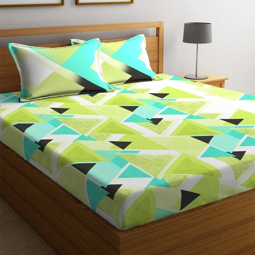 Portico New York 144 TC Cotton Double Printed Bedsheet(Pack of 1, Multicolor)
