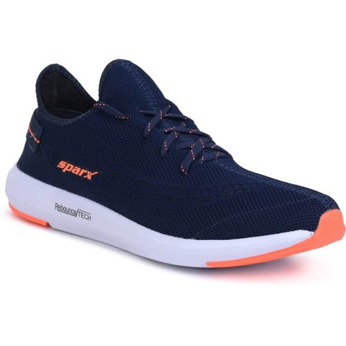 Sparx Men SM-482 Navy Blue Neon Orange Running Shoes For Men(Navy, Orange)