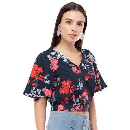Shiva Trends flutter sleeves floral top