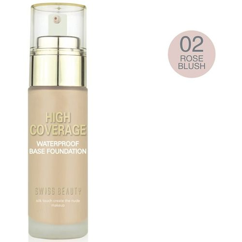Swiss Beauty Foundation (High Coverage) Rose Blush Foundation(Rose Blush, 50 ml)