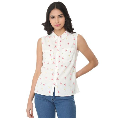 Van Heusen pocket patch quirky sleeveless shirt