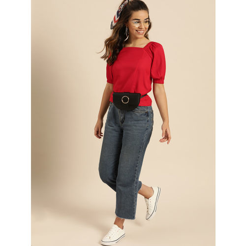 DressBerry Women Red Solid Top