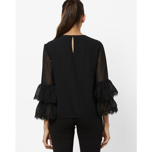 Vero Moda Top with Layered Lace Sleeves