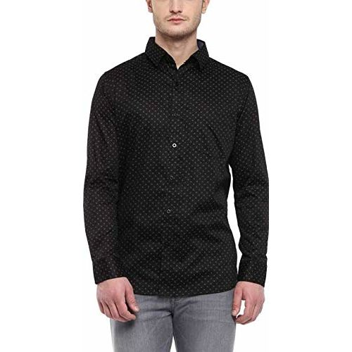 ZAKOD Men's Polka Print Full Sleeve Regular Fit Semi Formal Shirts for Men100% Cotton Shirts,Colour and Size Choose According 4 Colour Available M=38