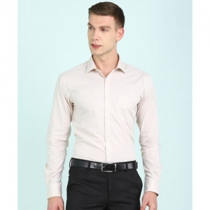 Park Avenue Men Solid Formal Beige Shirt