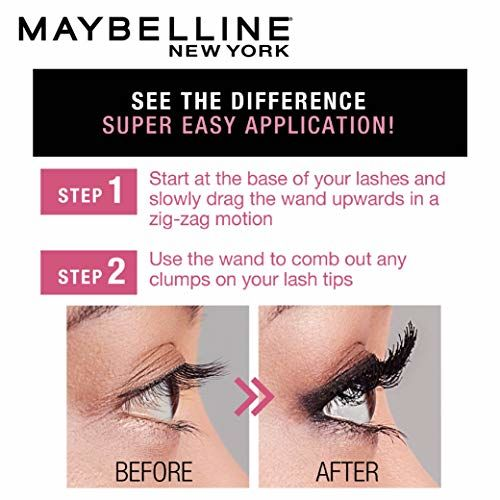 Maybelline New York Hypercurl Mascara Washable, Black, 9.2ml