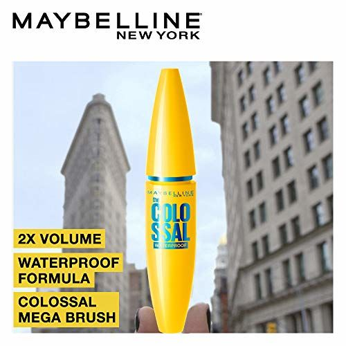 Maybelline New York Volume Express Colossal Masacara, Waterproof, Black, 10 ml