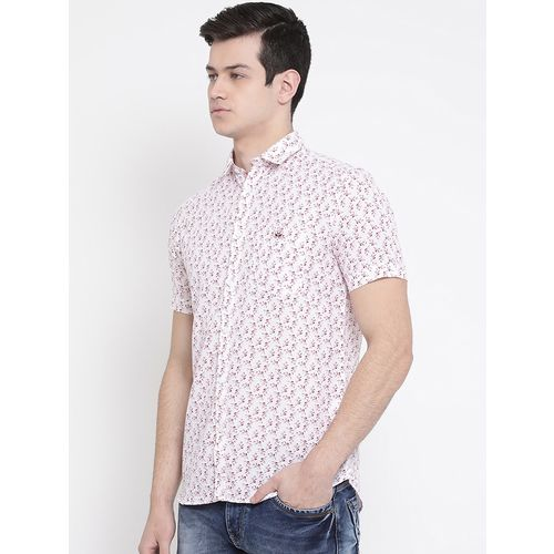 CRIMSOUNE CLUB white printed casual shirt