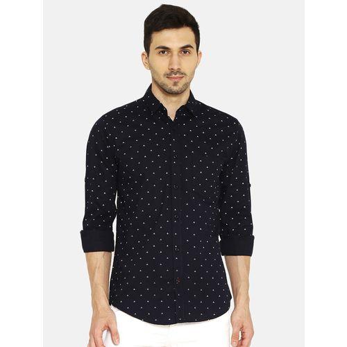 I-VOC black printed casual shirt