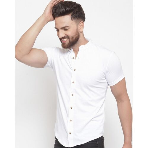 GESPO white solid casual shirt