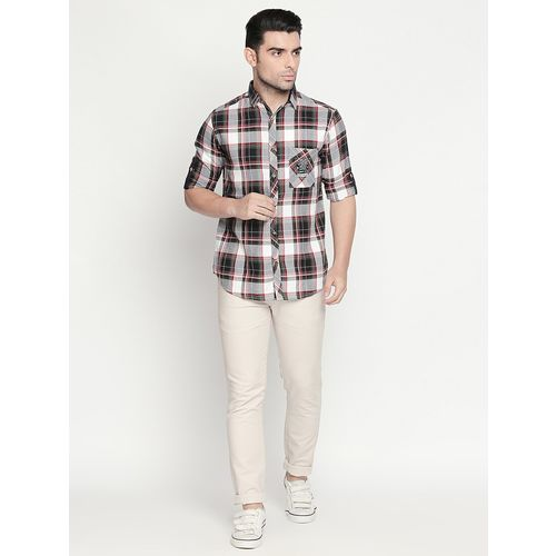 Solemio multi colored cotton casual shirt