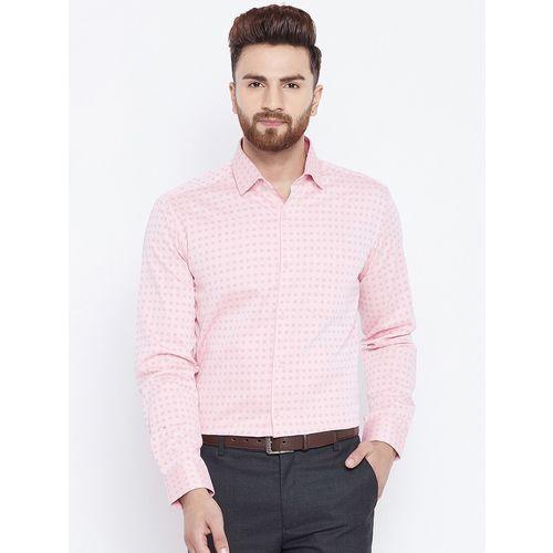 Canary London pink printed formal shirt
