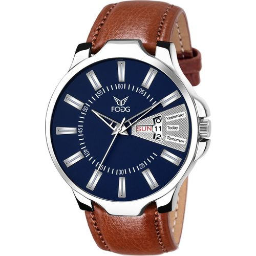 Fogg 1170-BL-BR Unique New Day & Date Analog Watch - For Men