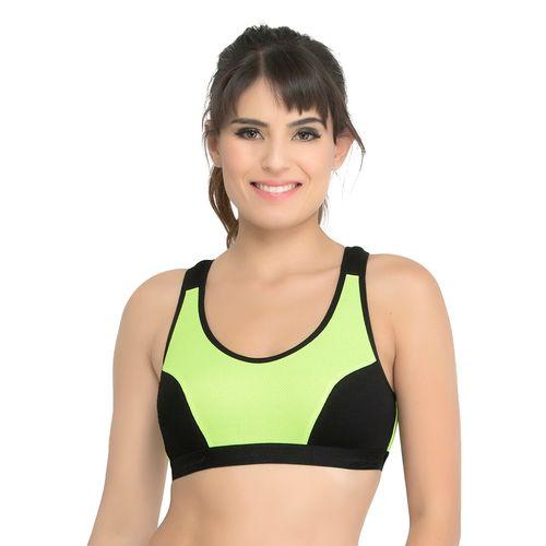College Girl green hosery sports bra