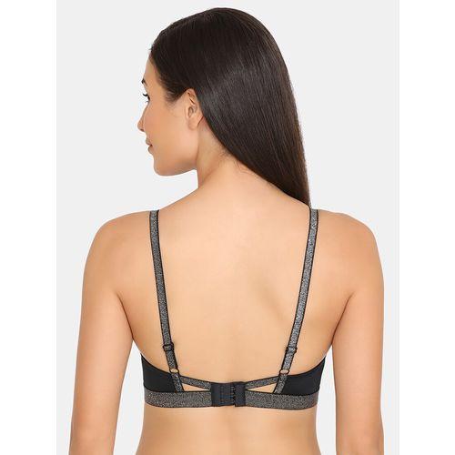 Zivame black nylon tshirt bra