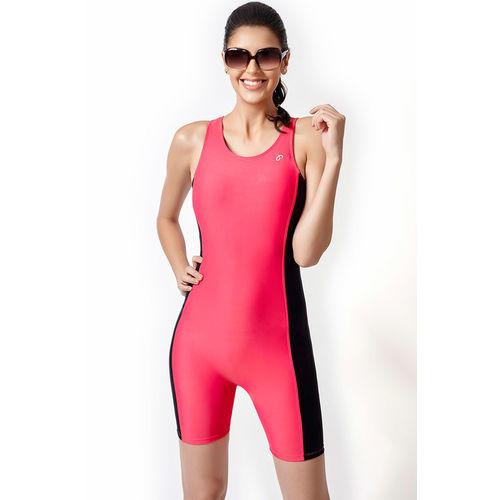 Zivame Aqua Tummy Smoothening Racerback Legsuit Swimwear With Removable Cups