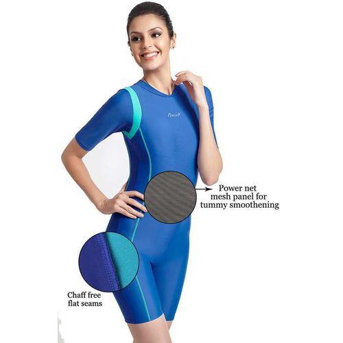 Zivame Aqua Tummy Smoothening Legsuit Swimwear With Removable Cups