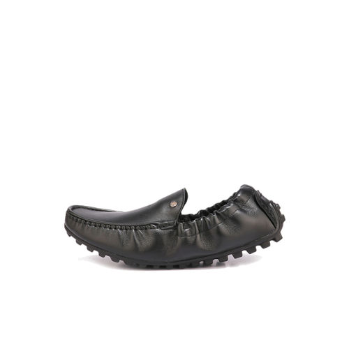 Red Chief Black Casual Loafers