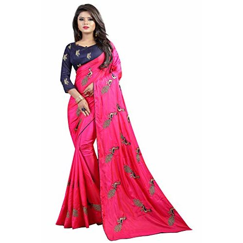 Shiroya Brothers Pink Silk Saree With Blouse Piece