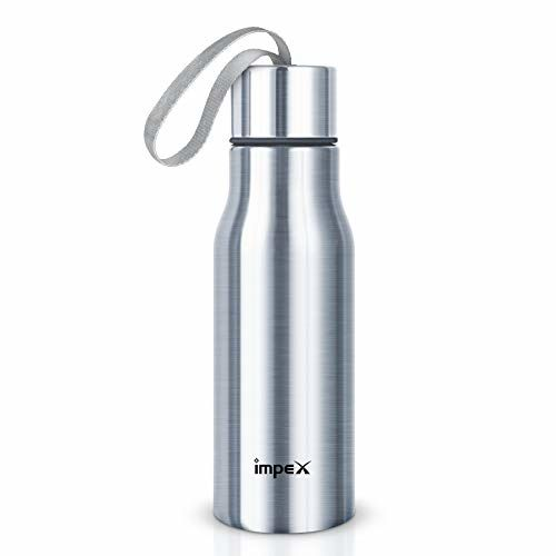 Impex SIPPY-500 Stainless Steel Water Bottle (Set of 1,Silver)