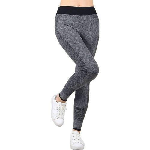 Burdy Ankle Length Legging(Grey, Solid)