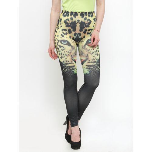 N-Gal Ankle Length Legging(Multicolor, Animal Print)