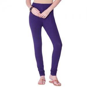 N-Gal purple solid churidar