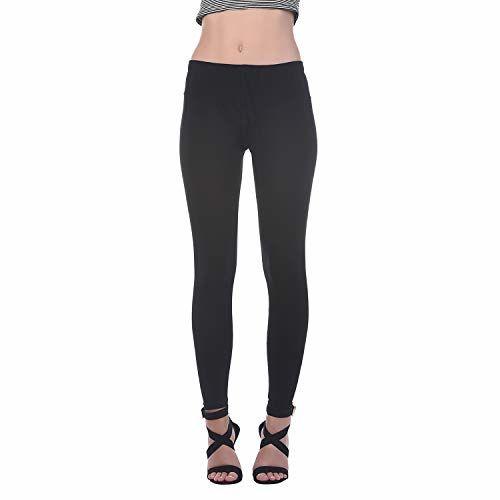 Generic Women's Cotton Lycra Ankle Length Legging Free Size - Black