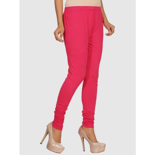 Rangriti Hot Pink Cotton Leggings