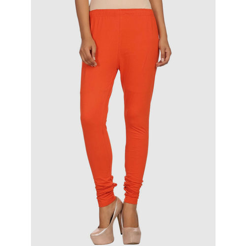Rangriti Orange Cotton Leggings