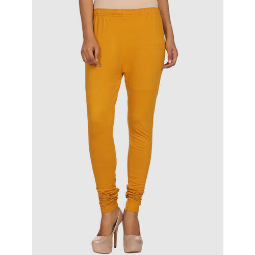 Rangriti Mustard Cotton Leggings