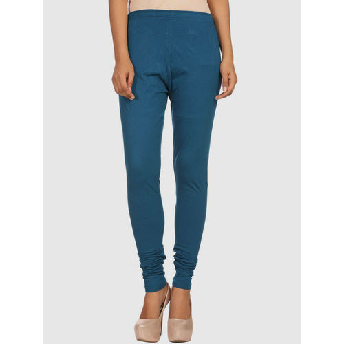 Rangriti Teal Blue Cotton Leggings
