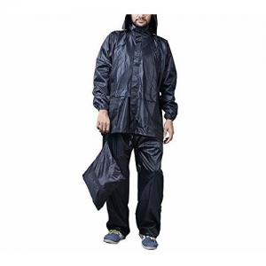 Zacharias Men's Semi Nylon Raincoat & Trouser Z Black