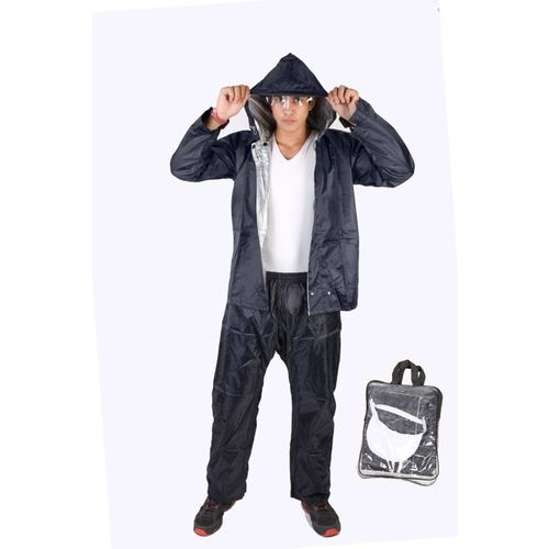 Burdy Nylon Rain Suit Solid Men Raincoat